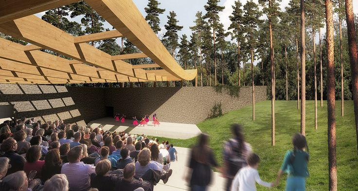 Nature-Inspired Design Named Winner of Sylvan Theatre Competition,Courtesy of Eric Rodrigues