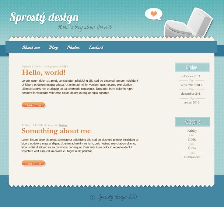"""Stupid design"" blog"