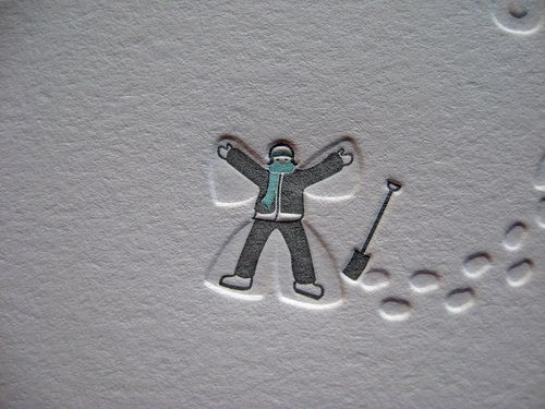 Snow Angel by Dolce Press - So simple, great use of a blind impression.
