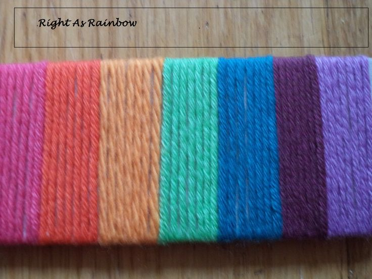 The rainbow colours used.