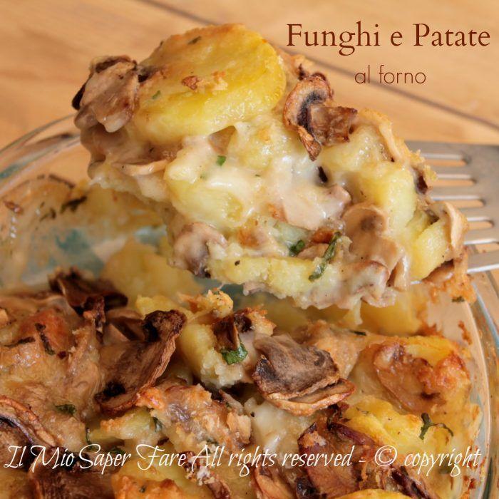 Funghi e patate al forno con Taleggio ricetta facile.Teglia di funghi porcini e patate che si realizza in poche mosse, basta lessare le patate e assemblare