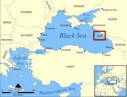 Map showing the location of Sochi, Russia, where the 2014 Winter Olympics games will be held.  It's on the Black Sea.