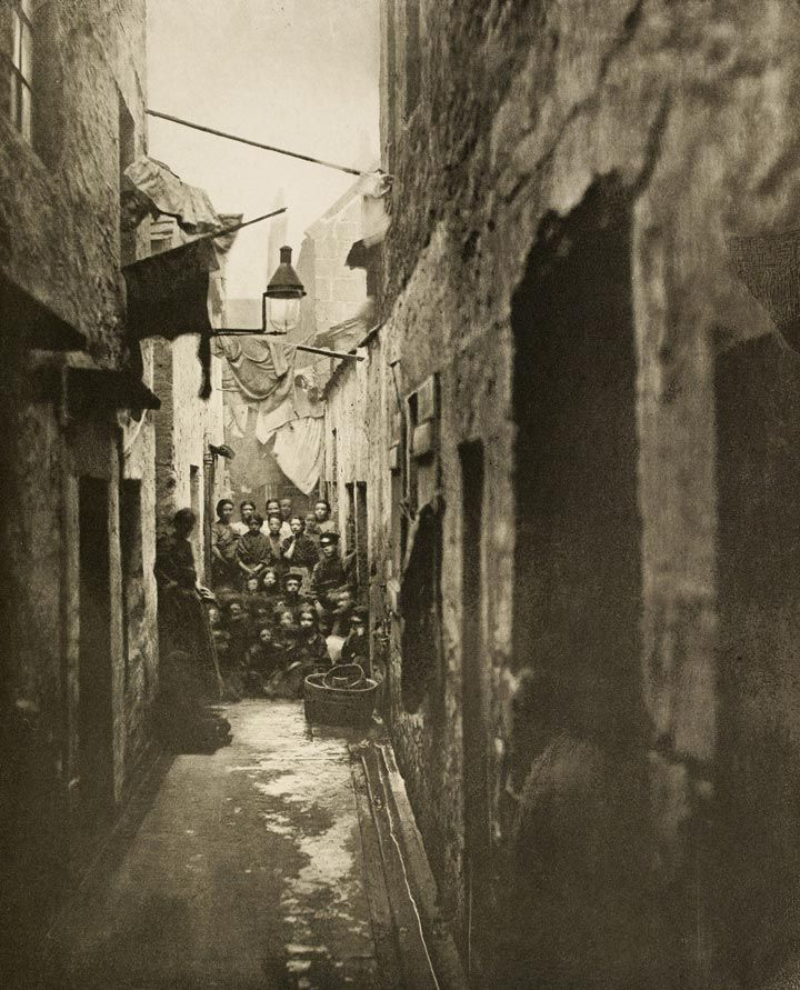 The Victorians liked to have their social classes clearly defined. The working class was divided into three layers, the lowest being 'working men' or labourers, then the 'intelligent artisan', and above him the 'educated working man'. In reality, things were not so tidily demarcated. Photo: Glasgow slum, 1868