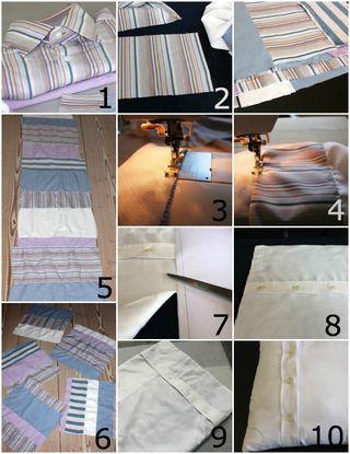 Lav gamle skjorter om til puder med print – og se smart detalje med lukningen… (via Bloglovin.com )
