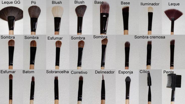 Veja aqui os Pinceis para maquiagem para que serve cada um? não se irrite mais com muitos pinceis e na hora não saber ao certo qual usar.