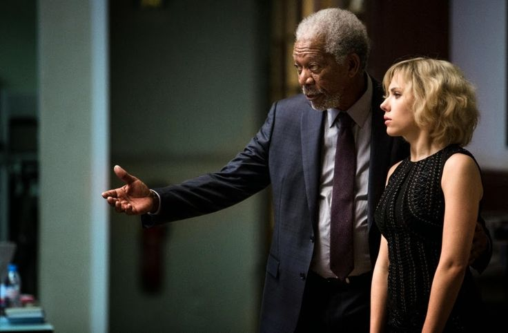 Morgan Freeman and Scarlett Johansson in Lucy (2014) - IMDb