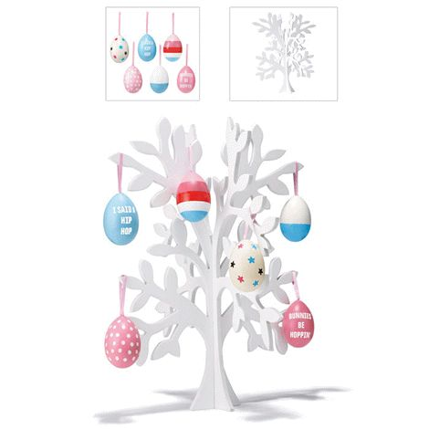 Easter Bundle includes six Easter Egg Ornament and Easter Egg Tree.