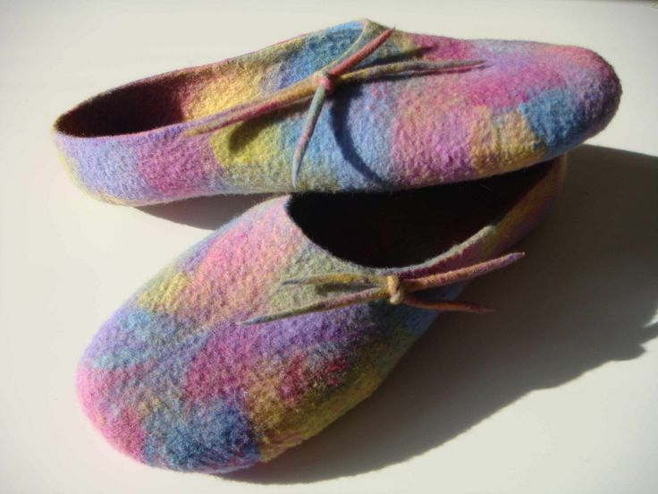 Felted Slippers Pastel Confetti | Flickr - Photo Sharing!