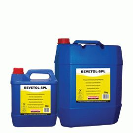 BEVETOL-SPL: Concrete superplasticizer (ASTM C-494: Type A, D & G). When added to ready-mixed concrete, increases workability without decreasing strength. When added during concrete preparation, reduces the amount of water required (reduction of w/c ratio) thus increasing strength. Certified with the CE marking as set retarding - high range water reducing - concrete superplasticizing admixture according to EN 934-2: T11.1 and T11.2, certificate number: 0906-CPD-02412007.