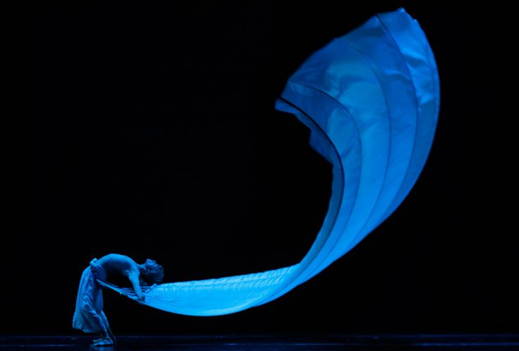 "A dancer of the Momix Dance Theatre Company performs a scene of ""Bothanica"" at the Olympic theatre in Rome,Italy."