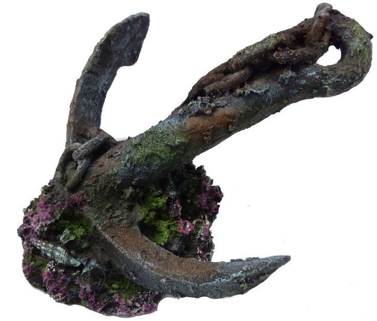 Supa Anchor On Rock Aquarium Ornament in Pet Supplies, Fish & Aquarium, Decorations   eBay