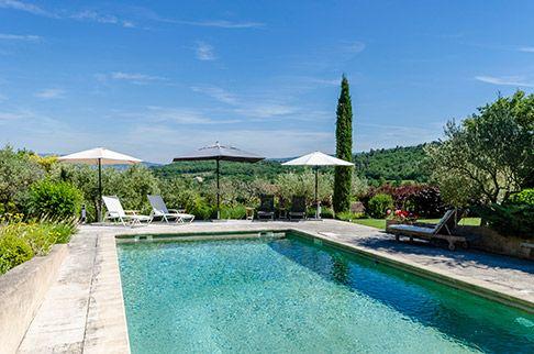 Goult, Provence Holiday Rental Villa With Pool - Bellvue www - Gites De France Avec Piscine Interieure