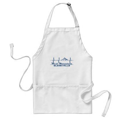 West Mountain  -  Glens Falls - New York Adult Apron - fall decor diy customize special cyo
