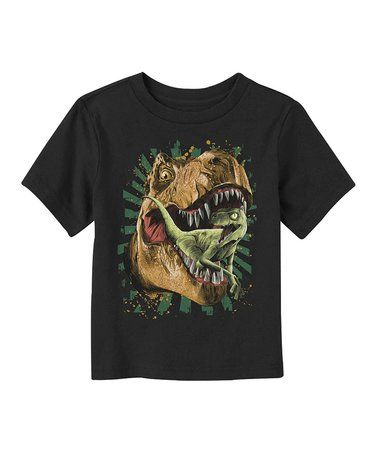 Black T-Rex Eats Tee - Toddler & Boys #zulily #zulilyfinds