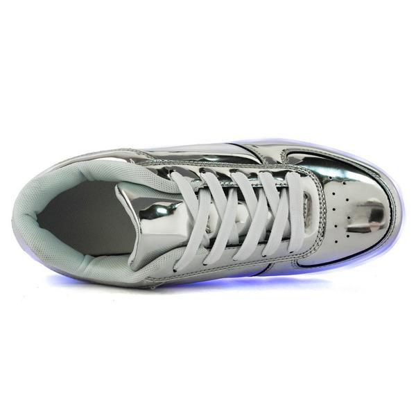 men women luminous led shoes with light luxury brand shoes glow in the dark basket led femme light up skate simulation