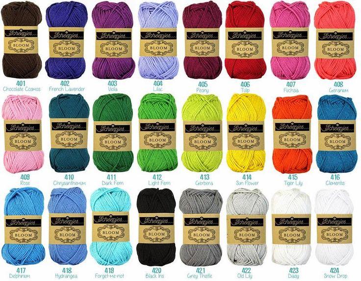 Scheepjeswol new yarn called Bloom, it's a mercerized 100% cotton yarn in 24 colors - On Atty's blog