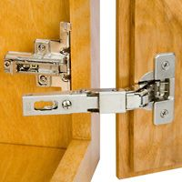 """New European Style Hinge for Lipped Cabinet Doors - thanks to the Salice Hinge and Plate for 3/8″ Overlay Doors, you can take advantage of the features that make European style hinges (aka """"cup hinges"""") the hinge of choice for just about all new kitchen cabinetry."""