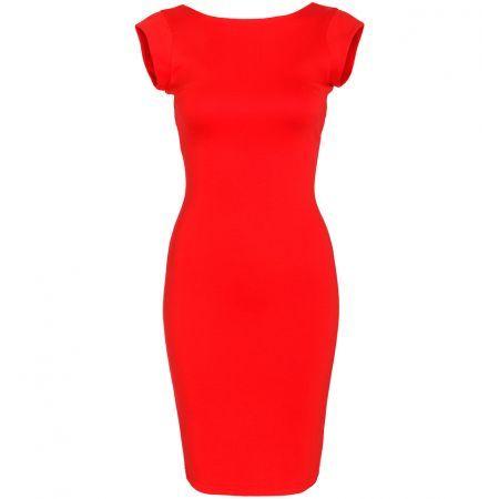 Nauwsluitende rode jurk Loavies