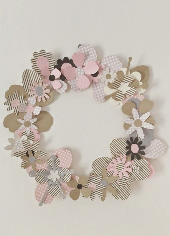 Crafting ideas from Sizzix UK: Garland of paper flowers