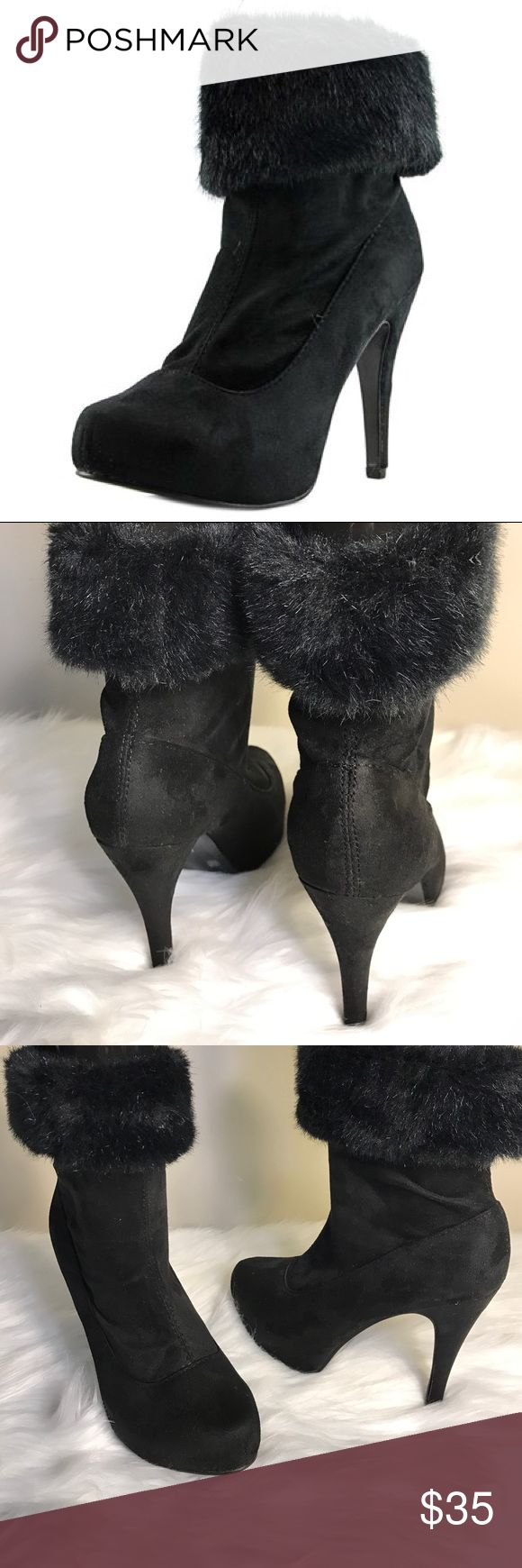 Chinese Laundry Tim Tok Suede Boots Used, in good condition. The Chinese Laundry Tik Tok Boots feature a Suede upper with a Round Toe . The Man-Made outsole lends lasting traction and wear. Chinese Laundry Shoes Heeled Boots