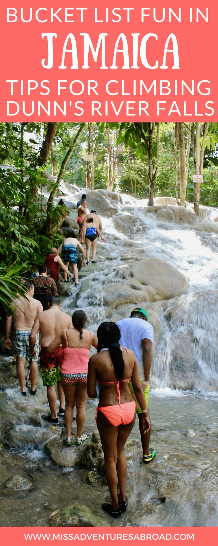 Climbing Jamaica's Dunn's River Falls: Tips For Visiting This Epic Attraction · If you are planning a vacation or trip to Jamaica, then you will want to make sure you visit Dunn's Rivver Falls-a 600 foot waterfall you can actually climb! Be sure to read this post before you go, it has all the tips you need to plan an excellent visit to this one-of-a-kind waterfall.