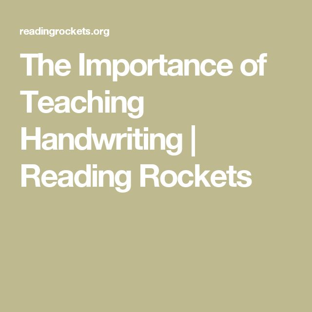 UNDERSTANDING This webpage helped me to better understand the importance of handwriting. Handwriting is a basic tool used in many subjects for taking notes, taking tests, and doing classroom work and homework. This source also included information on instruction in handwriting such as teaching children a consistent formation of letters with continuous stokes whenever possible and starting by focusing learning on the motor pattern instead of getting caught up in perfect legibility or size.