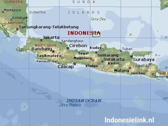 Java landkaart - Java map/ roots