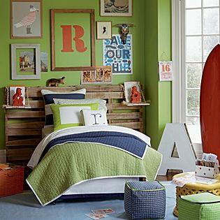 Navy/Clover Cabin Quilt | Serena & Lily