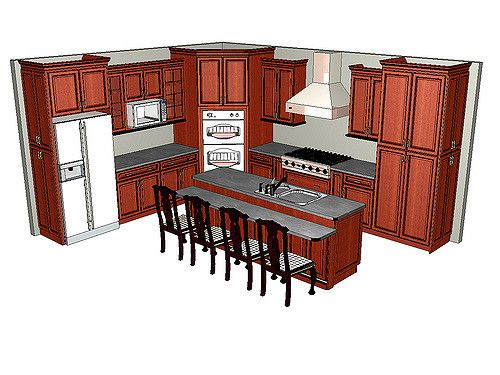 corner double oven kitchen finished | Flickr - Photo Sharing!