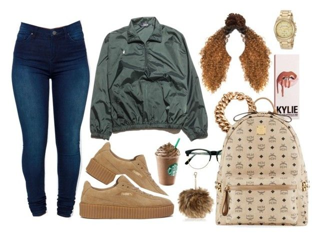 """""""⚛"""" by eniola29 ❤ liked on Polyvore featuring Ralph Lauren, Puma, BLANKNYC, Retrò, None the Richer, River Island, MCM and Michael Kors"""