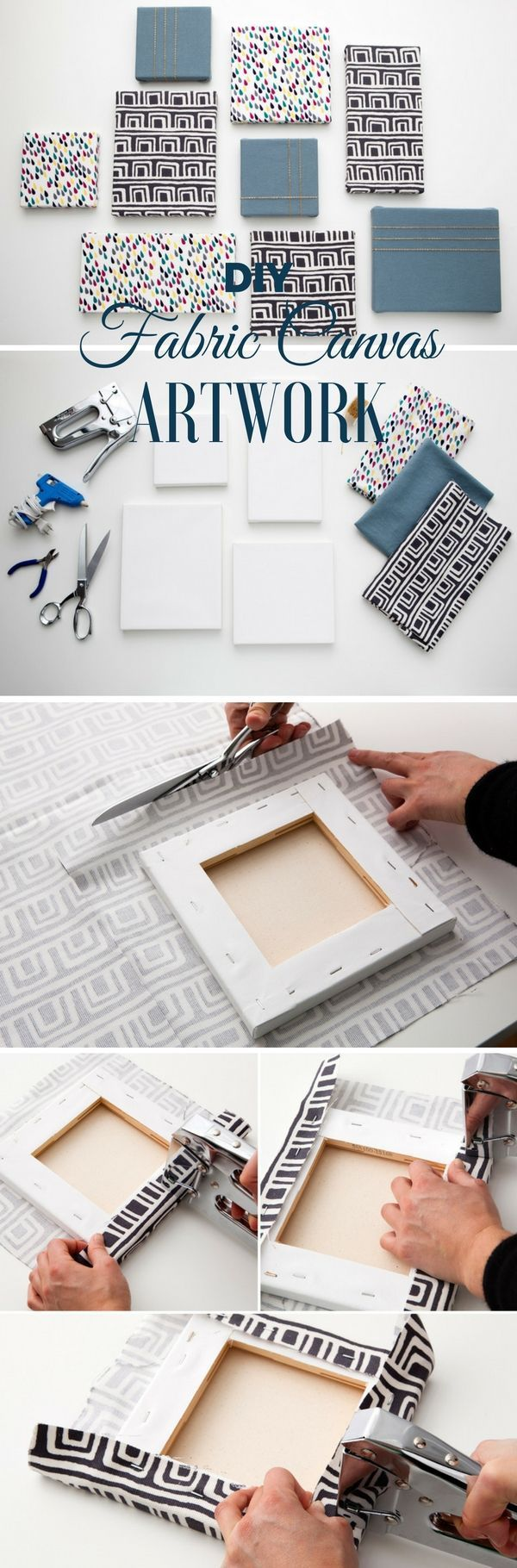 Awesome Cool Check Out The Tutorial Diy Fabric Canvas