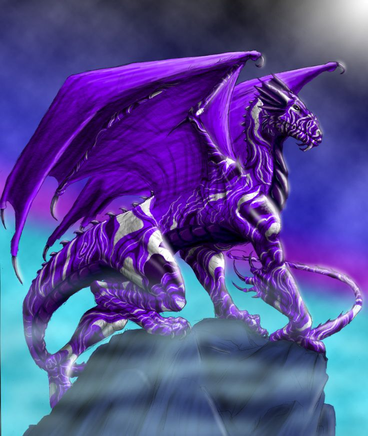 Name: Violet Guardian. Native to: Were artificially bred in Florida Existence Status: 1/10 Diet: Omnivore Element: Aether Colouring: Violet Size: 34ft head to tail (37ft wing span) Weight: 30 metric tons  Habitat: Hot, sunny, busy places. Known For: Thick, hard scales which are practically impenetrable.