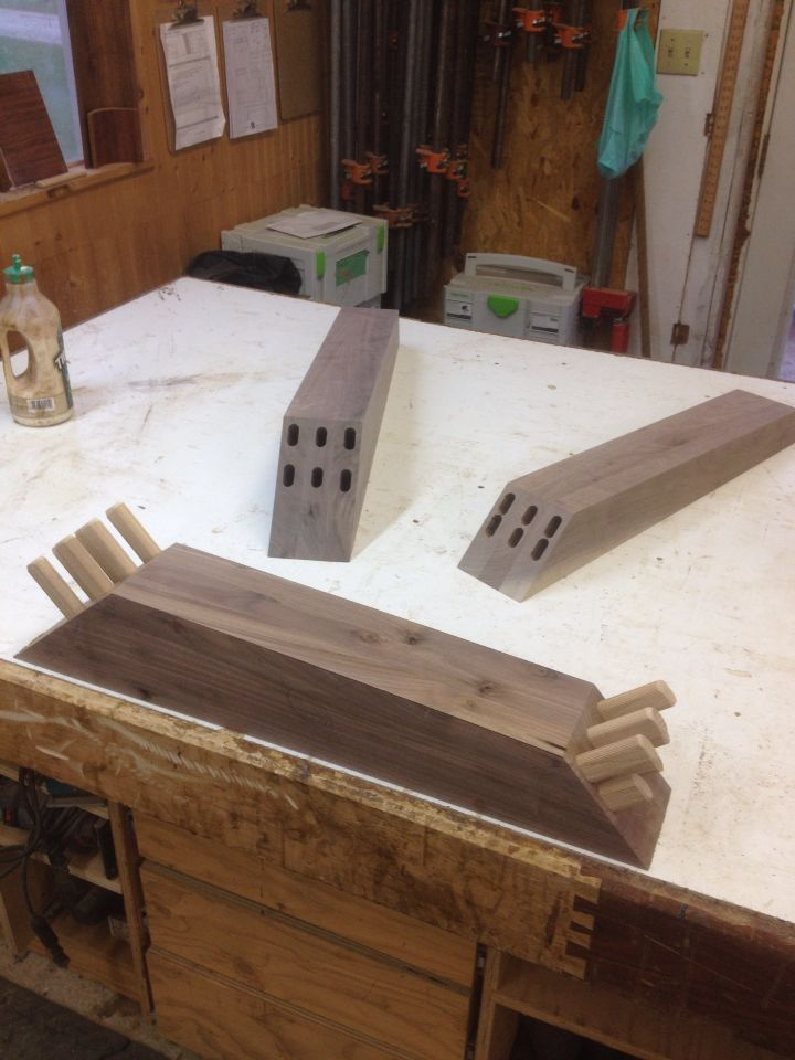 About Ready For Glue Up Miter Joint Reinforced With