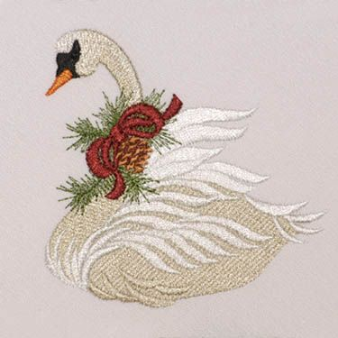 Christmas Pine Swan Machine Embroidery Pinterest Embroidery Inspiration Free Machine Embroidery Patterns To Download