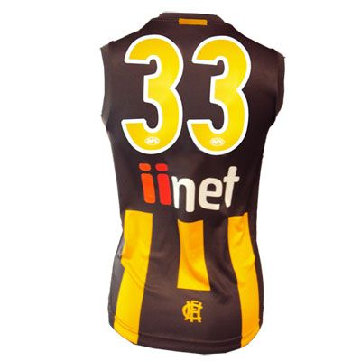 Official AFL Guernsey Numbers -  Double Digit -  GOLD/WHITE numbers  - Away Guernsey $15