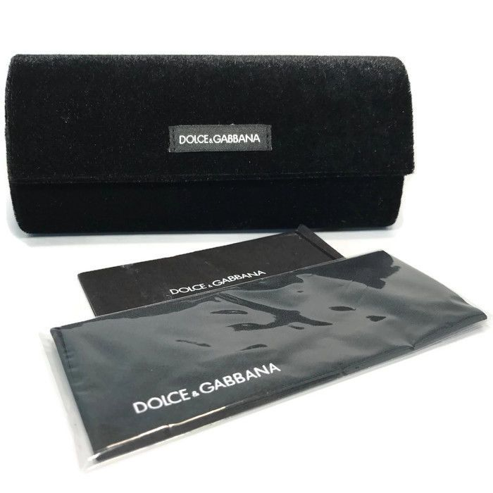 Dolce Gabana Eyeglasses Sunglasses Black Velvet Case ONLY w/Cloth #DolceGabbana