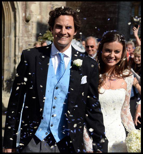 Rupert Finch and Lady Natasha Rufus Isaacs seen after their wedding