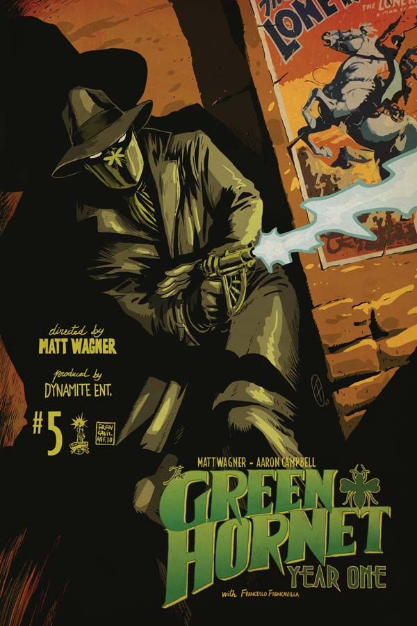 Love how his Grand-Uncle is on the wall behind! Dynamite® Green Hornet: Year One #5