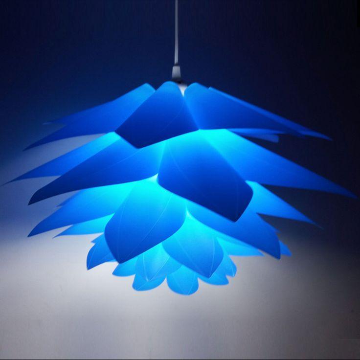 Modern Lambası DIY Lotus Avize Kolye Droplight Gölge Tavan Odası Kafe Restuar Dekorasyon Yapboz Işık Asma Lambası (Çin (Anakara))