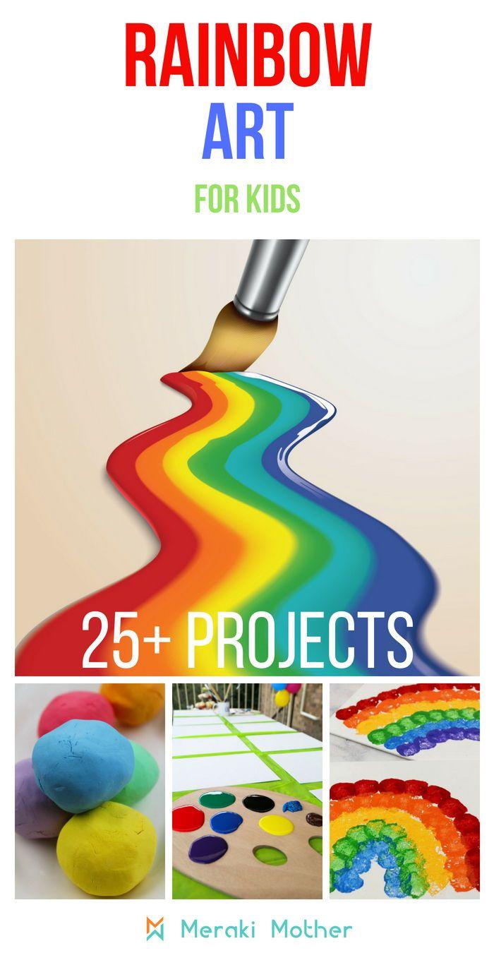 Rainbow Activities For Preschoolers Preschool Process Art