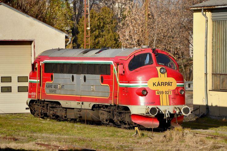 NOHAB EMD F7 diesel-electric Locomotive in Budapest