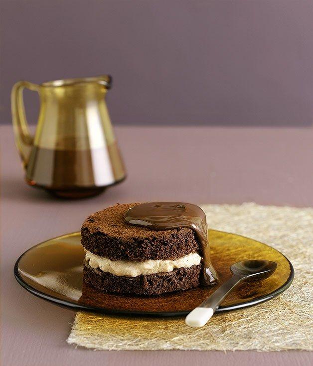 Australian Gourmet Traveller fast cake recipe for chocolate chestnut cakes