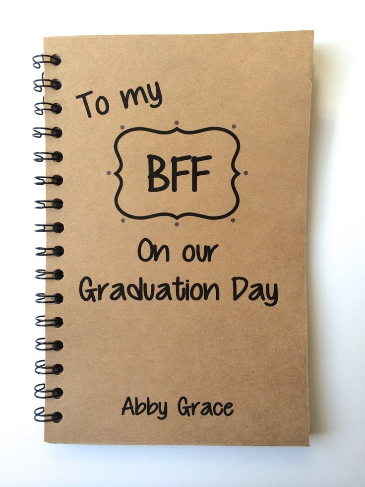 Best Friend Gift, Graduation Gift, BFF, Class of 2015, Friends, Graduation Notebook, Personalized, Graduation, Notebook,  gift, Graduate by MisterScribbles on Etsy https://www.etsy.com/listing/224467882/best-friend-gift-graduation-gift-bff