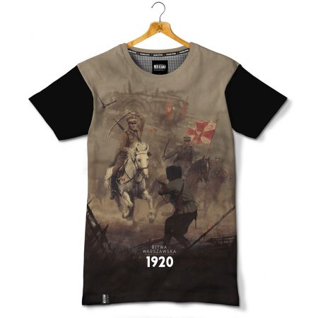 Koszulka patriotyczna Bitwa Warszawska 1920. Nadruk sublimacyjny - odzież patriotyczna, koszulki męskie Red is Bad