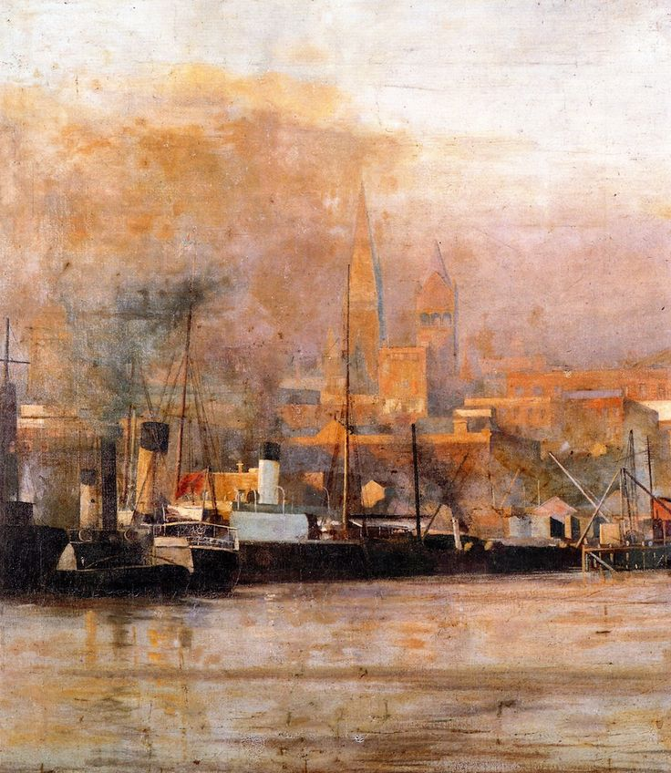 Melbourne in 1888.   Frederick McCubbin  (25 February 1855 – 20 December 1917) was an Australian painter who was prominent in the Heidelberg School, one of the more important periods in Australia's visual arts history.