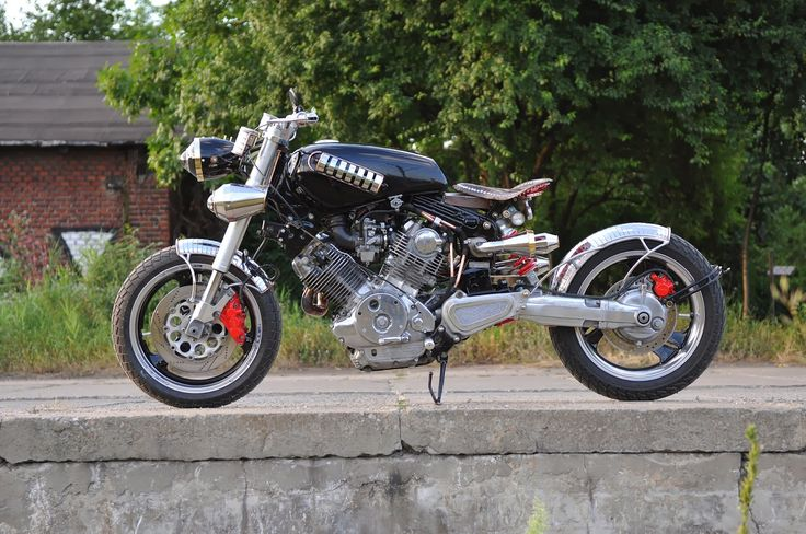 Yamaha Virago Bobber | Custom Yamaha XV750 | Custom Yamaha Virago 750 | Yamaha Virago Bobber parts | Custom Yamaha Virago Bobber by Wojtek Spyra | way2speed.com