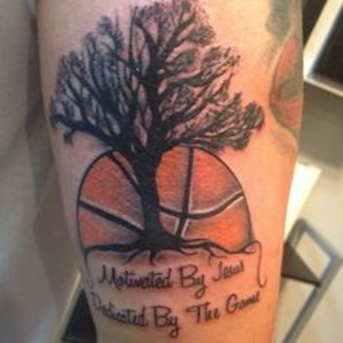 Basketball Tattoos | InkDoneRight  The National Basketball Association is one of the most heavily viewed and loved group of people in America. Basketball Tattoos are a great way to show...