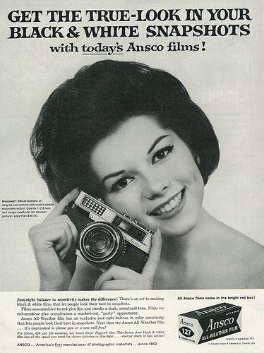 Vintage 1960s magazine advertisement, Ansco camera and ...