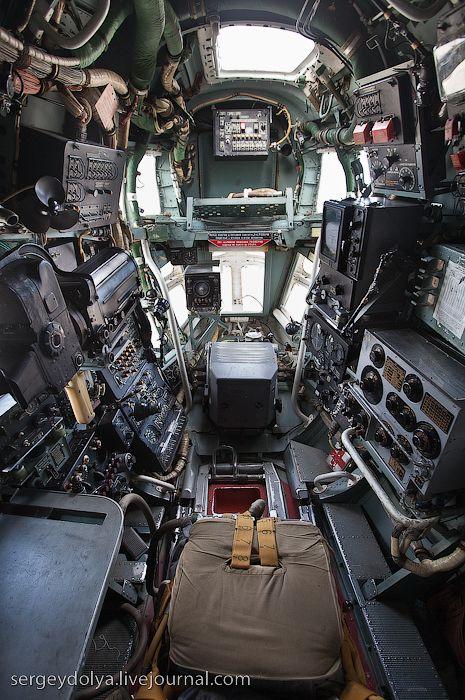 Nose Interior of amphibian aircraft BE-12
