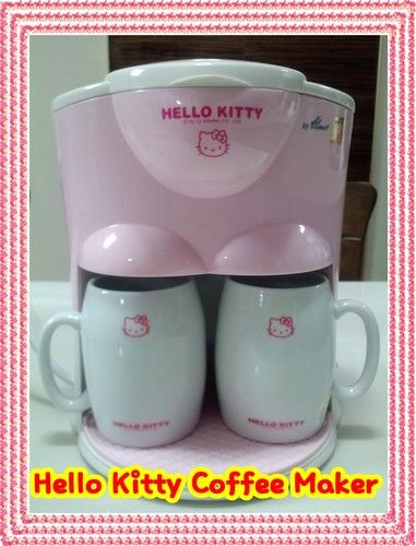 Hello Kitty Coffee Maker 2 Cups New Products With Ceramic 2 Mug Cups